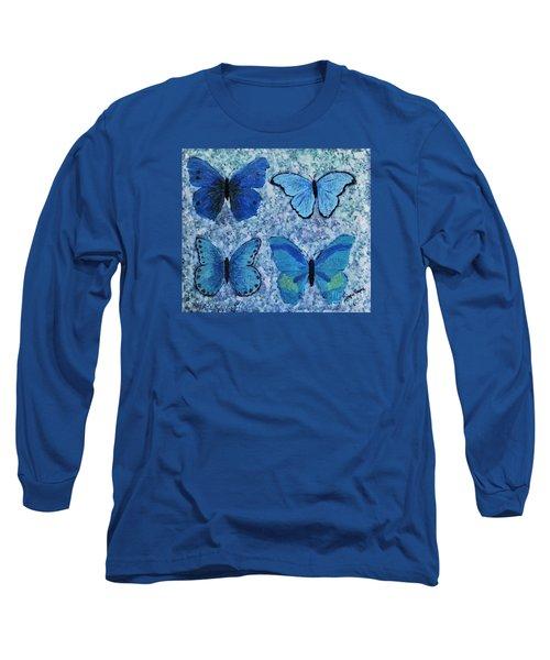 Blue Butterflies Long Sleeve T-Shirt