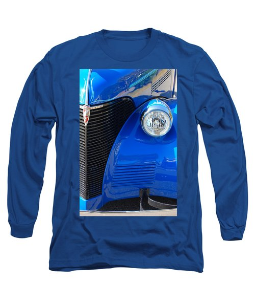 Blue Chevy Long Sleeve T-Shirt by Donna Bentley
