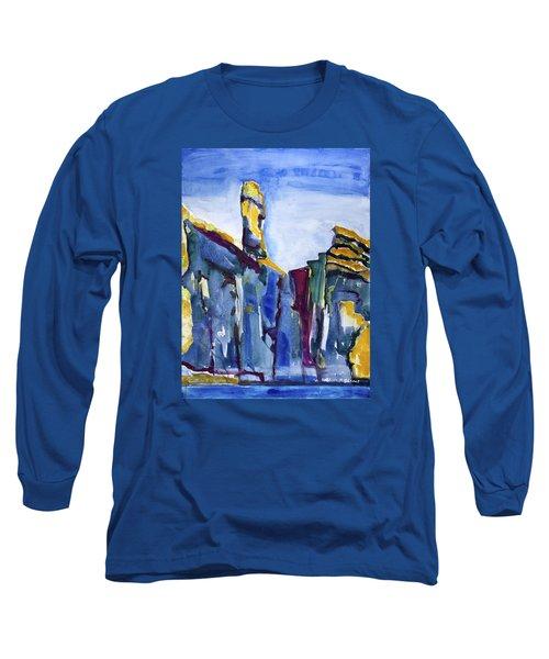 Blue Cliffs, Sea And Sky Long Sleeve T-Shirt