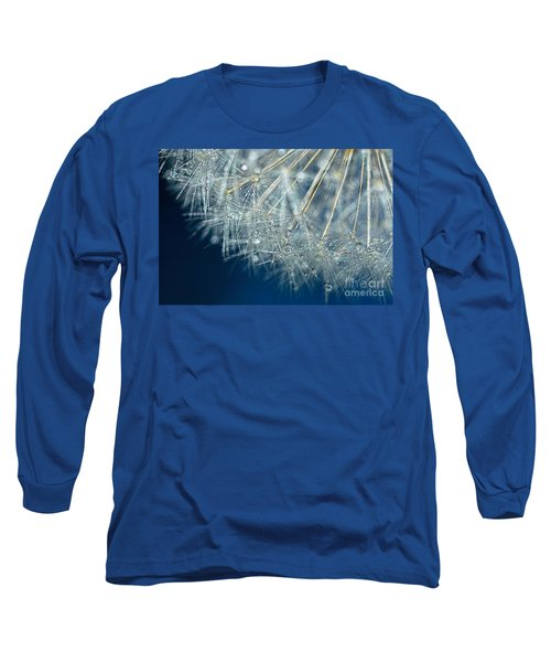 Blue Dandelion Dew By Kaye Menner Long Sleeve T-Shirt