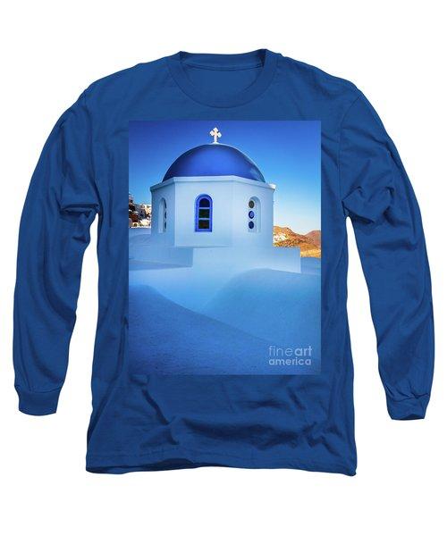 Blue Domed Chapel Long Sleeve T-Shirt