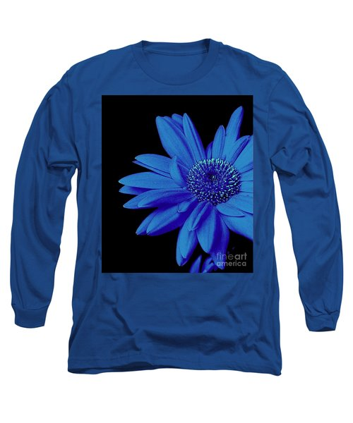 Blue Long Sleeve T-Shirt by Elfriede Fulda