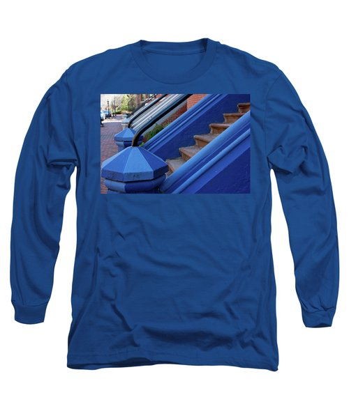 Blue Entry Long Sleeve T-Shirt by Jim Gillen