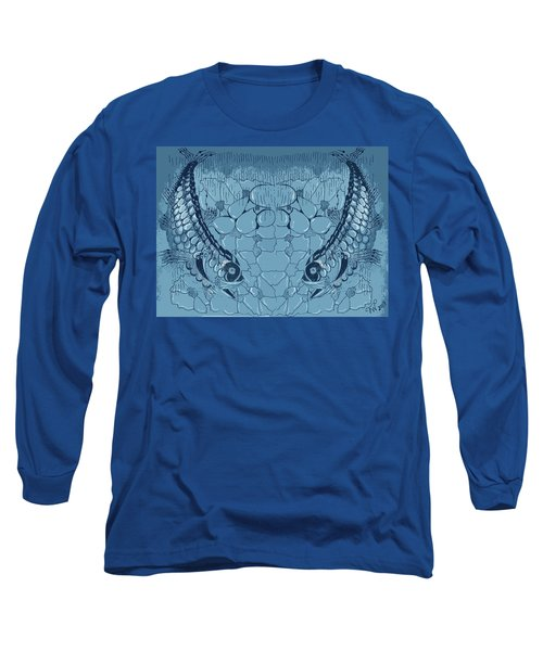 Blue Fish Long Sleeve T-Shirt by Joyce Wasser