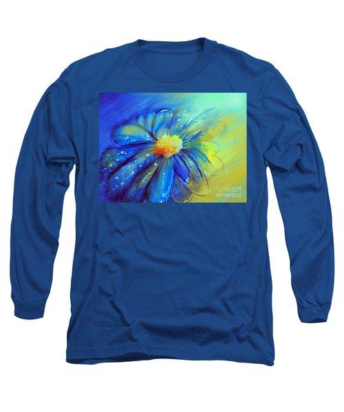 Blue Flower Offering Long Sleeve T-Shirt by Allison Ashton