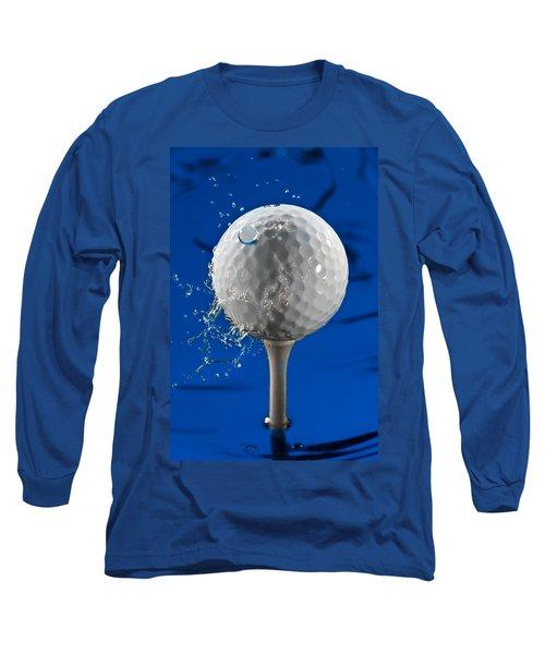 Blue Golf Ball Splash Long Sleeve T-Shirt