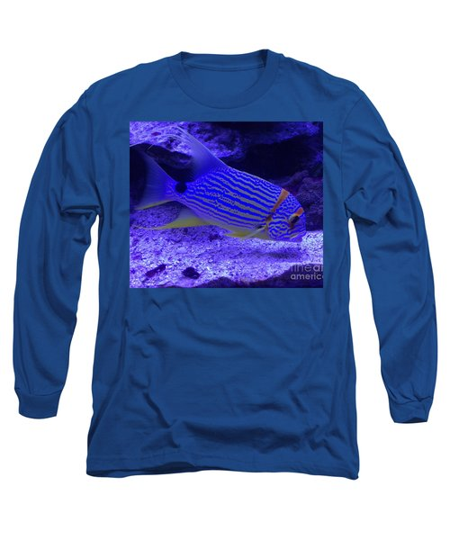 Long Sleeve T-Shirt featuring the photograph Blue Fish Groupie by Richard W Linford