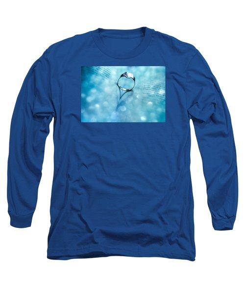 Blue Heart Long Sleeve T-Shirt by Martina Fagan