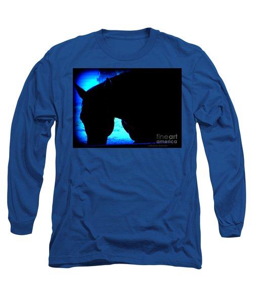 Blue Horse Long Sleeve T-Shirt