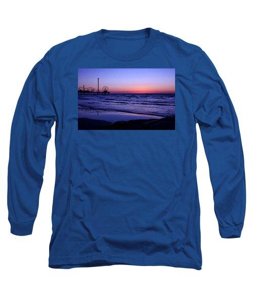 Blue Hour In Galveston Long Sleeve T-Shirt