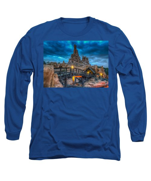 Blue Hour Over Big Thunder Mountain Long Sleeve T-Shirt