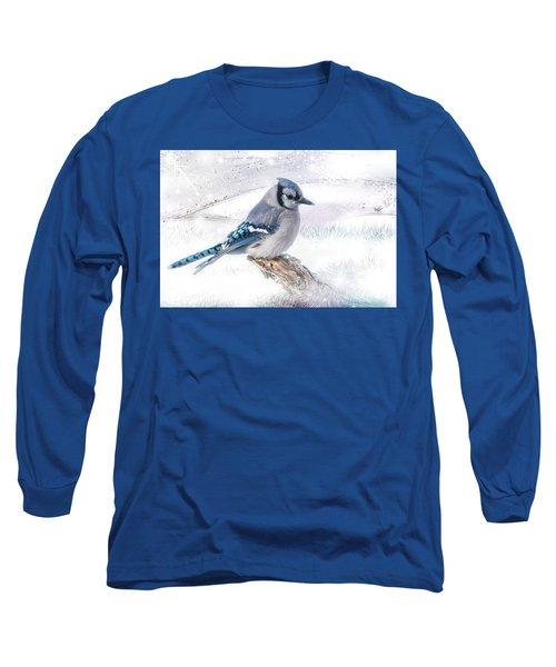Blue Jay Snow Long Sleeve T-Shirt