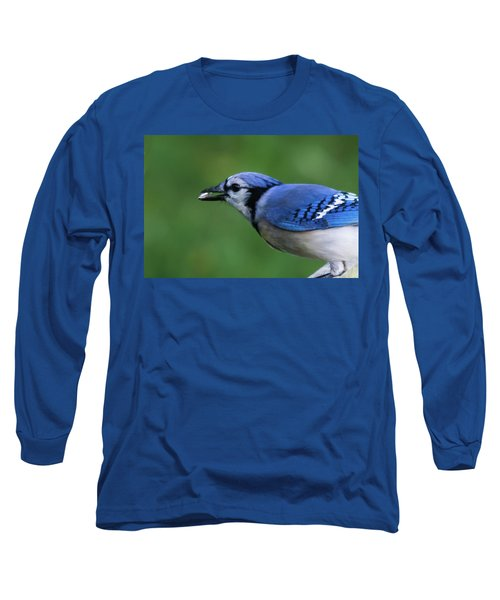 Blue Jay With Seed Long Sleeve T-Shirt