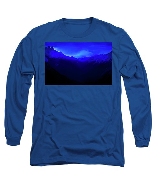 Long Sleeve T-Shirt featuring the photograph Blue by John Poon