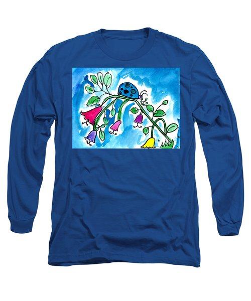 Blue Ladybug Long Sleeve T-Shirt