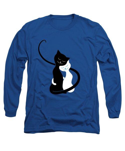 Blue Love Cats Long Sleeve T-Shirt