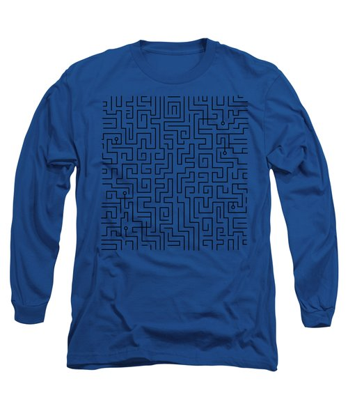 Blue Maze Long Sleeve T-Shirt