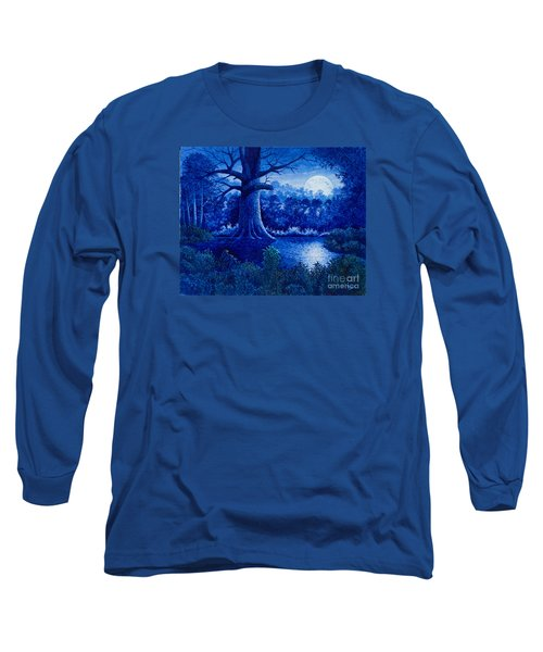 Blue Moon Long Sleeve T-Shirt by Michael Frank
