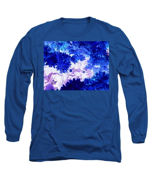 Blue Mums And Water Long Sleeve T-Shirt