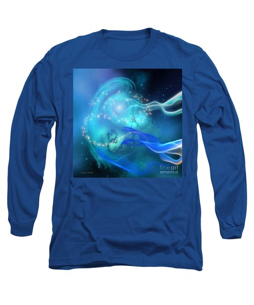 Blue Nebula Long Sleeve T-Shirt