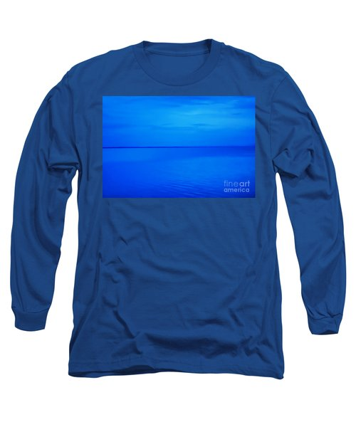 Long Sleeve T-Shirt featuring the photograph Blue Ocean Twilight by Randy Steele