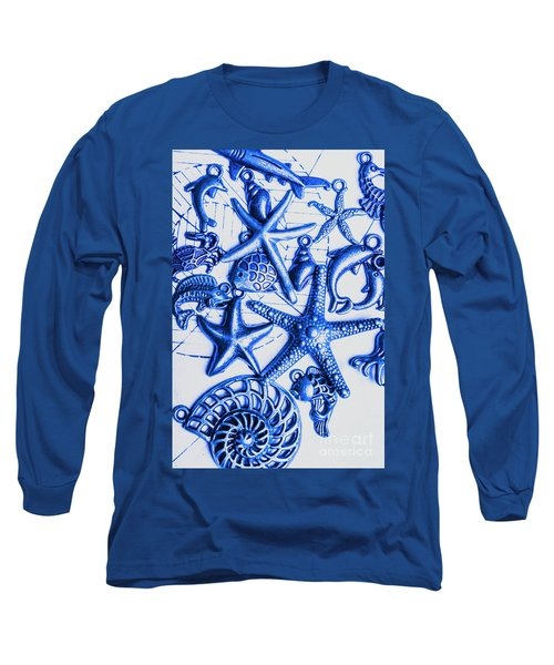 Blue Reef Abstract Long Sleeve T-Shirt