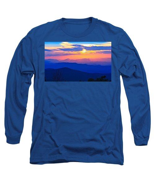 Blue Ridge Parkway Sunset, Va Long Sleeve T-Shirt by The American Shutterbug Society