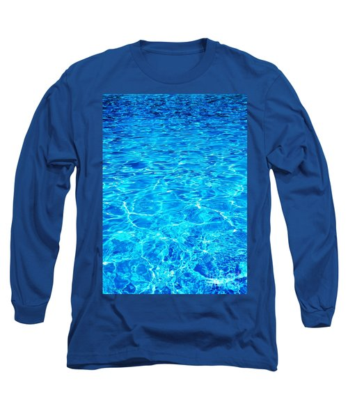 Long Sleeve T-Shirt featuring the photograph Blue Shadow by Ramona Matei