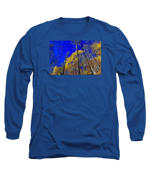 Blue Sky In Fall Long Sleeve T-Shirt by Paul Mashburn
