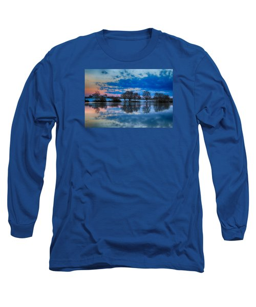 Blue Sky Morning Long Sleeve T-Shirt
