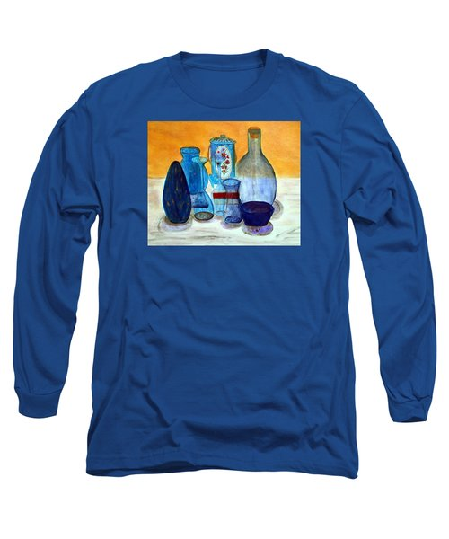 Blue Still Life Long Sleeve T-Shirt