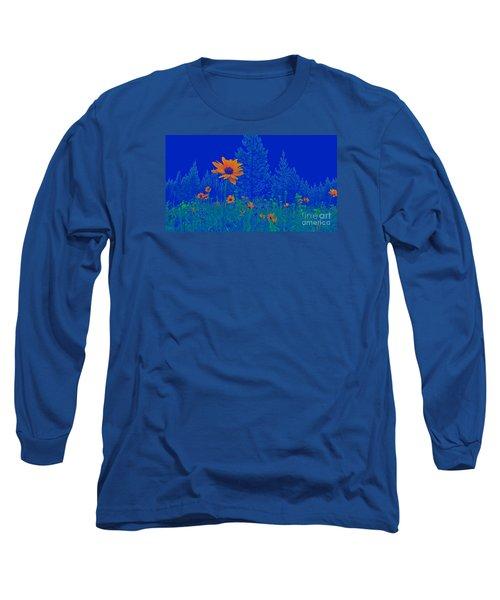 Blue Summer Long Sleeve T-Shirt