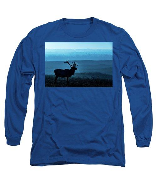 Blue Sunrise Long Sleeve T-Shirt by Jay Stockhaus