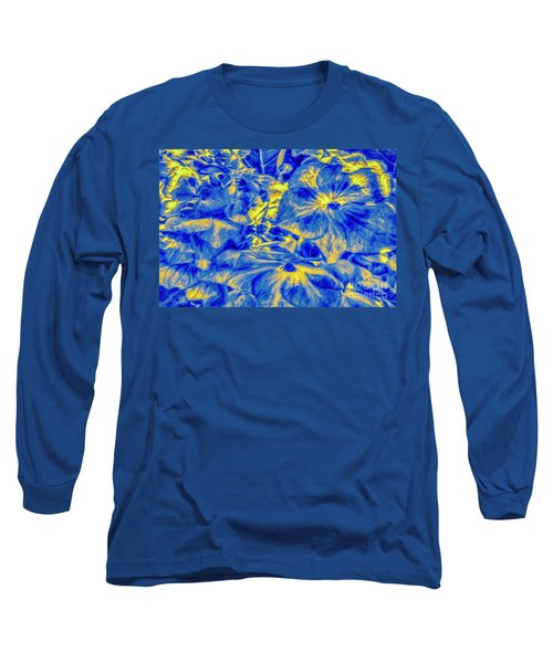 Blue Tango Floral Long Sleeve T-Shirt
