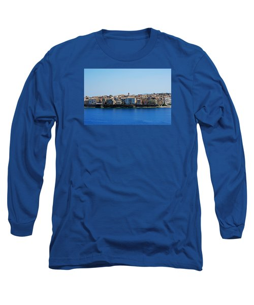 Long Sleeve T-Shirt featuring the photograph Blue Waters Of Corfu by Robert Moss