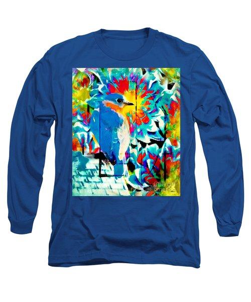 Bluebird Pop Art Long Sleeve T-Shirt