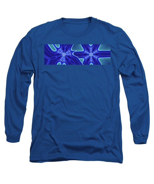 Long Sleeve T-Shirt featuring the digital art Blued by Ron Bissett