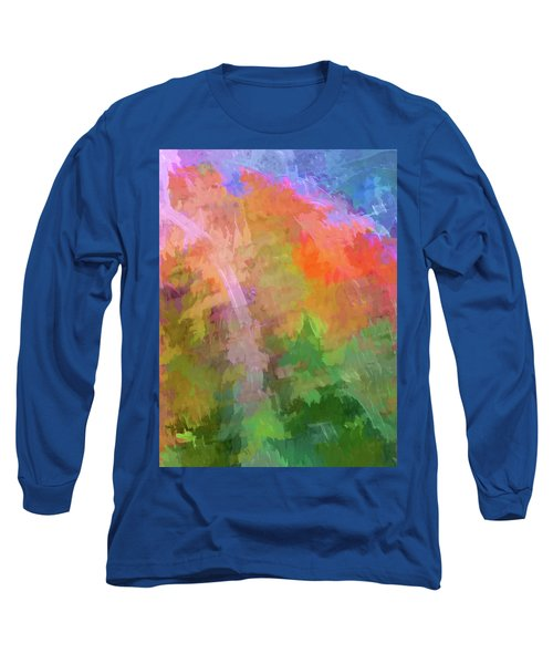 Blurry Painting Long Sleeve T-Shirt by Wendy McKennon
