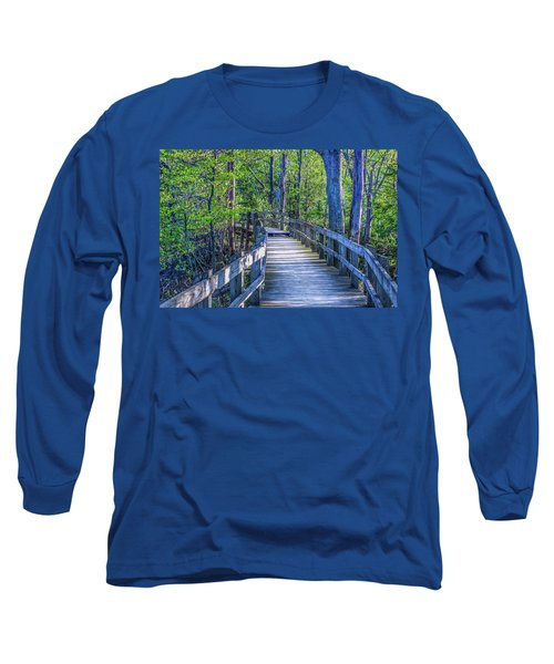 Boardwalk Going Into The Woods Long Sleeve T-Shirt