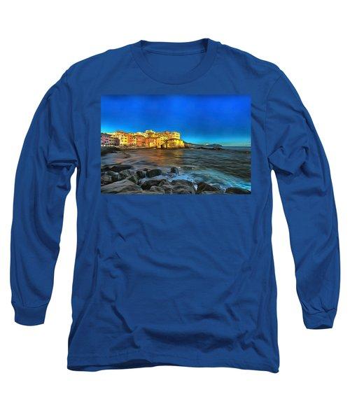 Boccadasse Beach On An Autumn Bright Sunny Day Long Sleeve T-Shirt