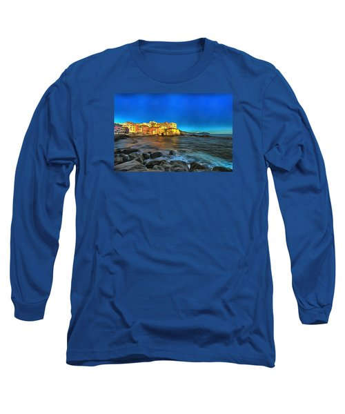 Boccadasse Beach On An Autumn Bright Sunny Day Long Sleeve T-Shirt