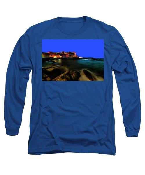 Boccadasse By Night Paint Long Sleeve T-Shirt