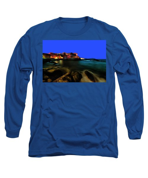 Boccadasse By Night Paint Long Sleeve T-Shirt