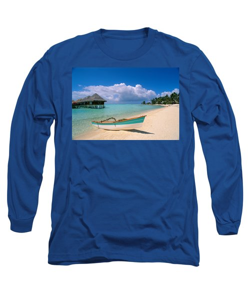 Bora Bora, Hotel Moana Long Sleeve T-Shirt by Greg Vaughn - Printscapes