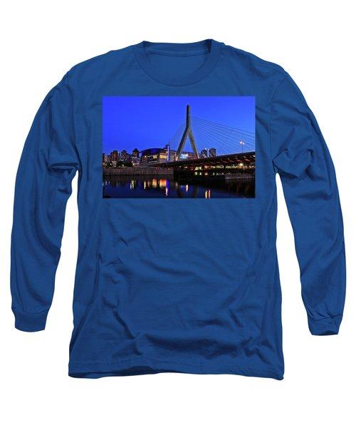 Boston Garden And Zakim Bridge Long Sleeve T-Shirt by Rick Berk