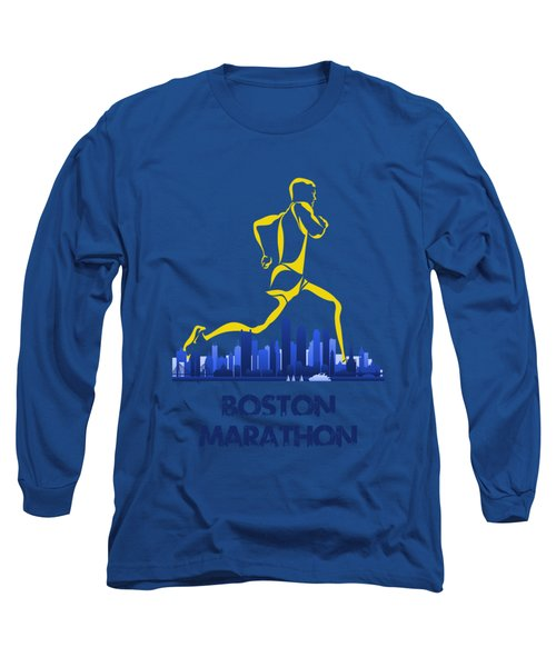 Boston Marathon5 Long Sleeve T-Shirt by Joe Hamilton