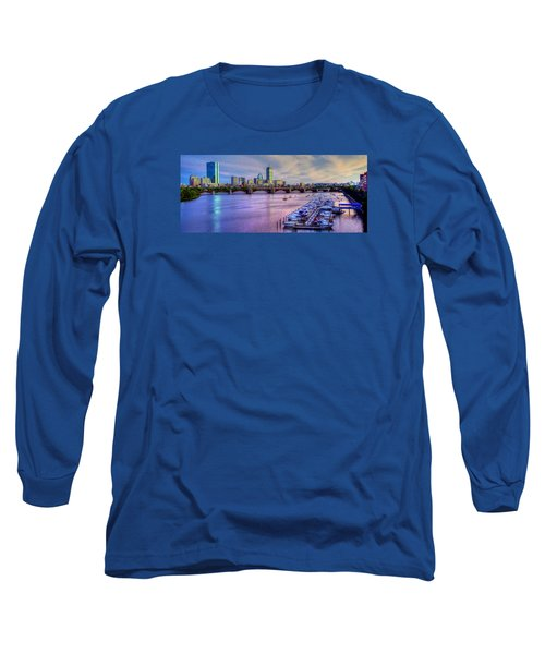 Boston Skyline Sunset Long Sleeve T-Shirt by Joann Vitali