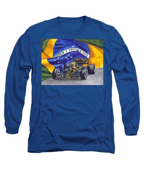 Brazil's Ayrton Senna Long Sleeve T-Shirt