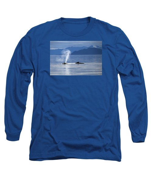 Breath Of A Whale Long Sleeve T-Shirt by Michele Cornelius