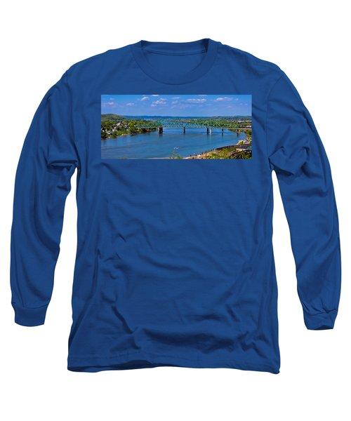 Bridge On The Ohio River Long Sleeve T-Shirt